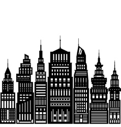 Modern big city vector
