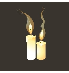 Graphic image of candles vector