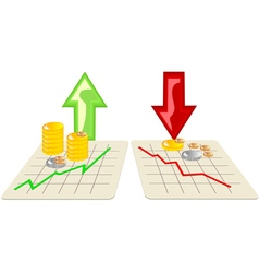 Stock market with arrows vector