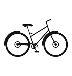 Bicycle simple icon vector