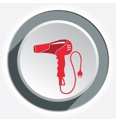 Hairdryer blow dryer with two-pin plug icon vector