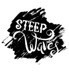 Steep Waves Surfing Print vector image