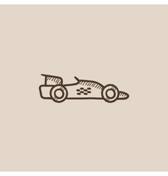 Race car sketch icon vector