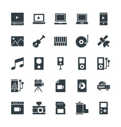 Multimedia Cool Icons 3 vector image