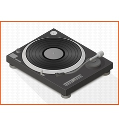 Turntable 3d vector
