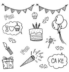 Element party doodle art vector
