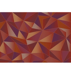 Abstract red triangles 3d background vector image vector image