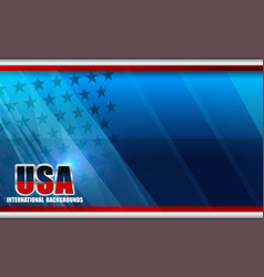 american flag backgrounds template vector image vector image