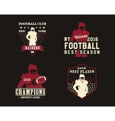 American football player team badges logos vector