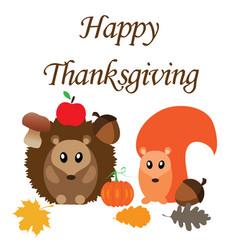 autumn animals vector image