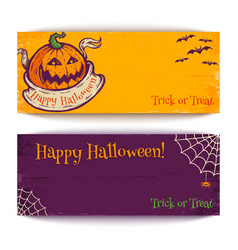 banners for halloween vector image vector image