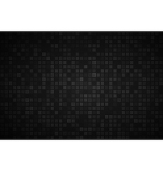 Black abstract background with transparent squares vector image vector image