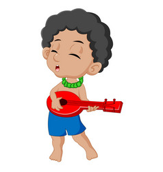 boy playing guitar vector image