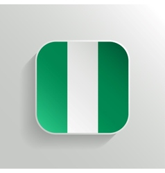 Button - nigeria flag icon vector
