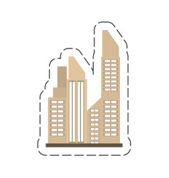 Cartoon building city real estate vector
