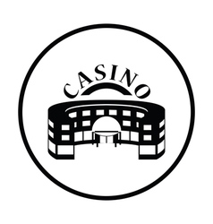 Casino building icon vector image vector image