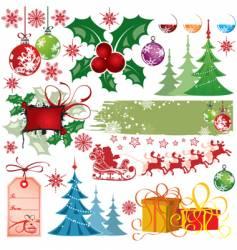 Christmas design elements vector