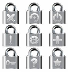 computer desktop lock icons vector image