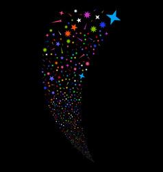 confetti stars random stream vector image
