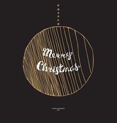 Doodle christmas ball vector