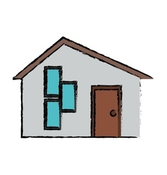 Drawing house modern style vector