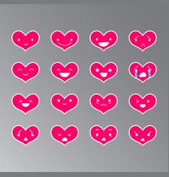 Emoticons heart color 17 vector