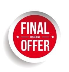 Final discount offer round label sticker vector