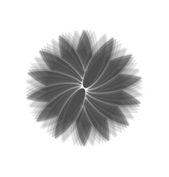 Flower sign gray icon shaked at white vector