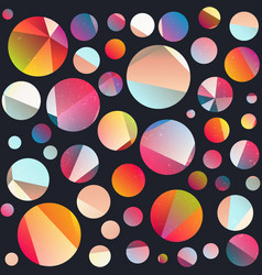 Funky circle seamless pattern vector