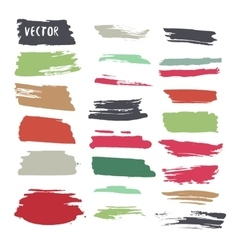 Grunge colorful ink paint strokes design vector