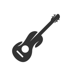 Guitar logo on white background - stock vector