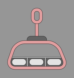 Icon in flat design cabin ski lift vector