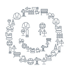 industrial building linear icons set vector image vector image