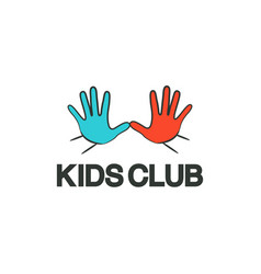 kids club logo template vector image