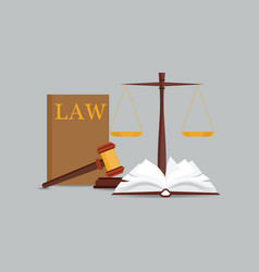 Law and justice set icon vector