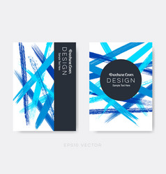 Modern abstract brochure cover design vector