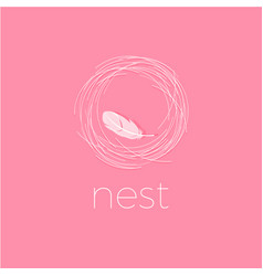 Nest logo soft logo comfort emblem vector
