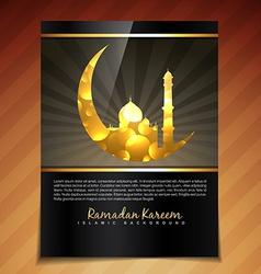 Ramadan festival template vector