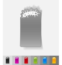 realistic design element bacterium vector image vector image