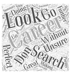 Search with a career search word cloud concept vector