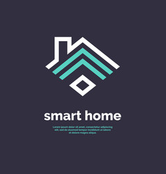 Smart home icon emblem sign wi-fi vector