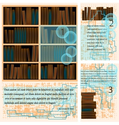 templates with books vector image vector image