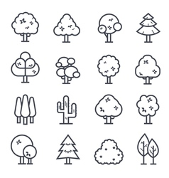 Tree icon bold stroke vector