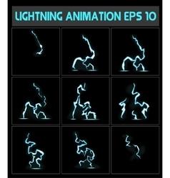 Weblightning animation a lightning strike to the vector