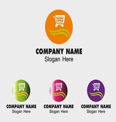 Website logo shopping cart icon vector