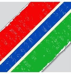 Gambia grunge flag vector image