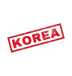 Korea rubber stamp vector