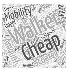 Cheap mobility scooters word cloud concept vector