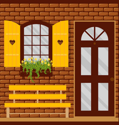 Window and shutters vector