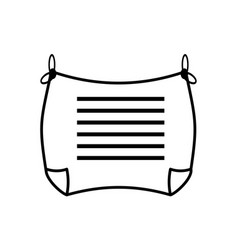 Message card letter romance outline vector